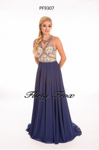Prom Frocks PF9307 Navy Nude