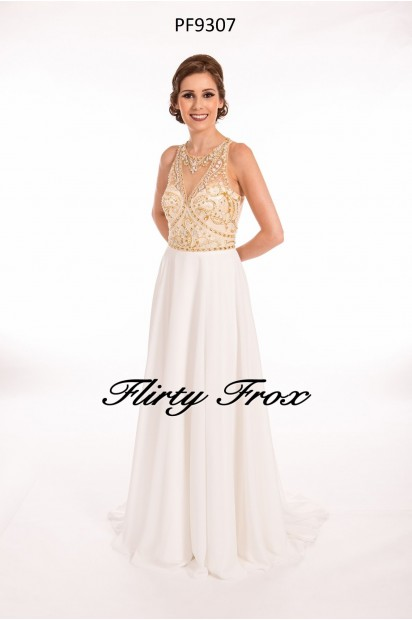 Prom Frocks PF9307 White Gold